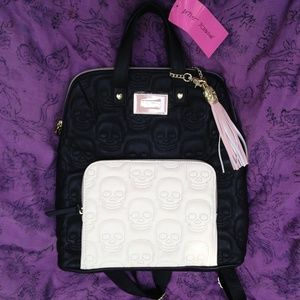 Betsey Johnson Skull Backpack Vegan NWT